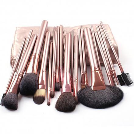 kit pinceaux maquillage poils naturels