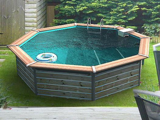 kit piscine hors sol bois