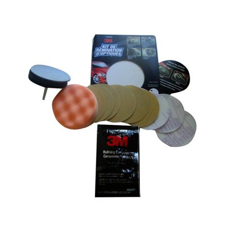 kit polissage phare plastique