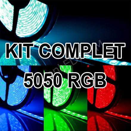 kit ruban led rgb 5050