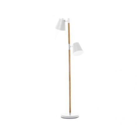 lampe bois et blanc