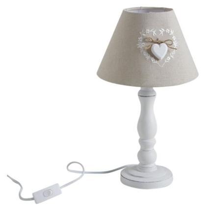 lampe de chevet coeur en bois