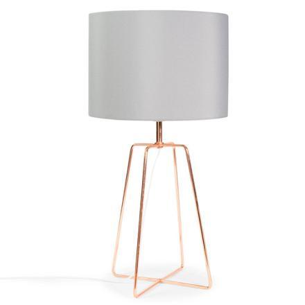 lampe de chevet rose gold