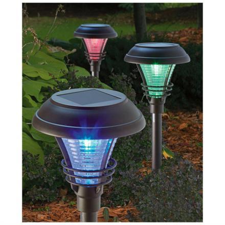 lampe solaire jardin couleur changeante