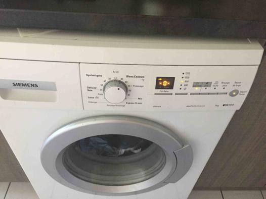 lave linge bloqué