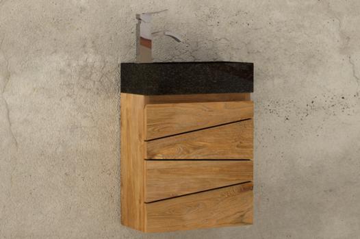 lave main en bois