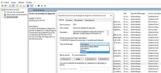 le service de diagnostic ne fonctionne pas windows 10