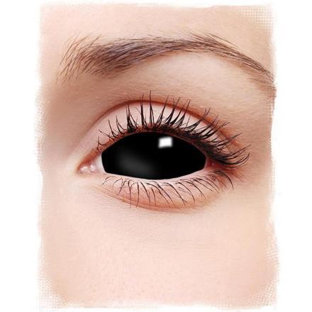 lentilles de contact noires pleines