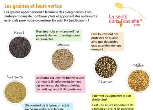 les graines bonnes pour la santé