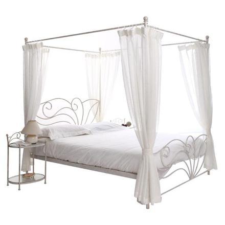 lit baldaquin 2 personnes