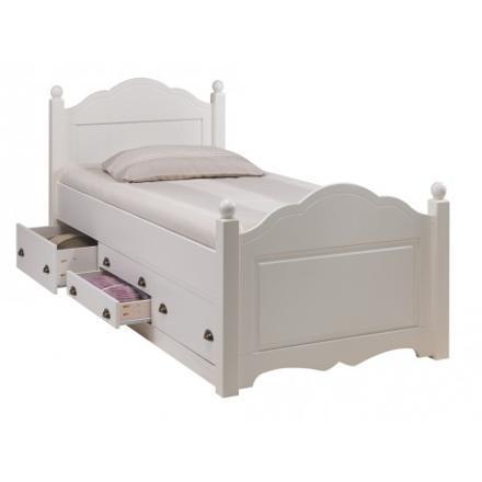 lit enfant tiroir blanc