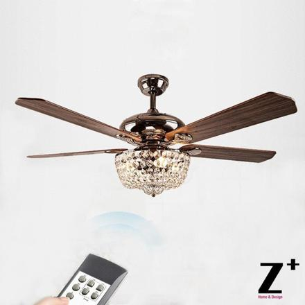 lustre avec ventilateur