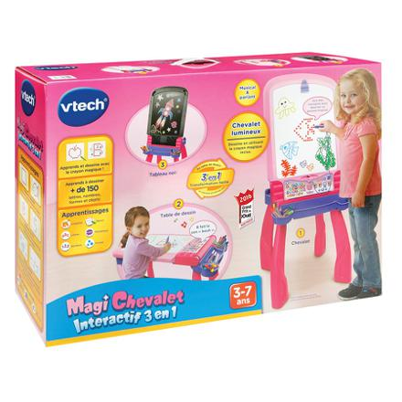 magi chevalet interactif 3 en 1 rose