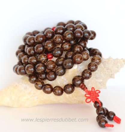mala tibétain 108 perles