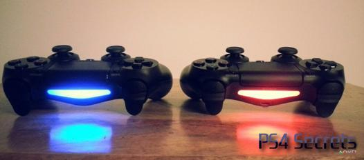 manette ps4 lumiere