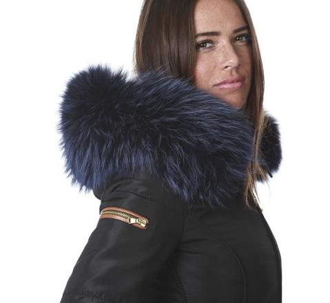 manteau avec grosse fourrure