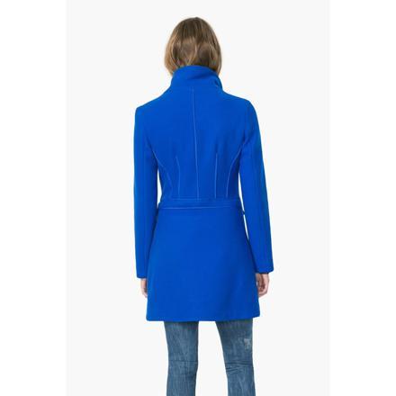 manteau bleu desigual