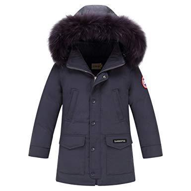 manteau capuche fourrure garcon