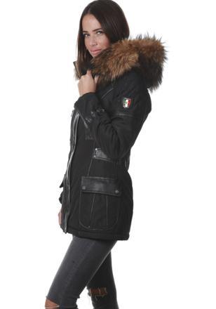 manteau femme grosse fourrure