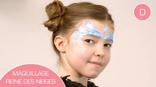 maquillage reine des neiges facile