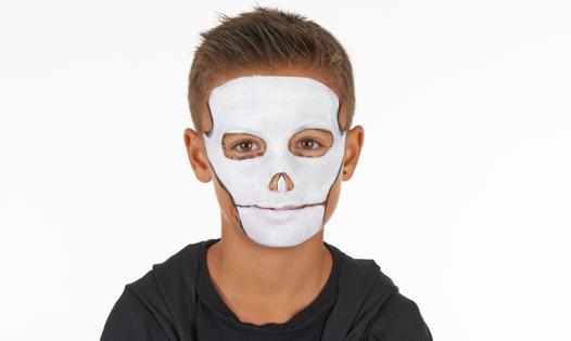 maquillage squelette enfant facile