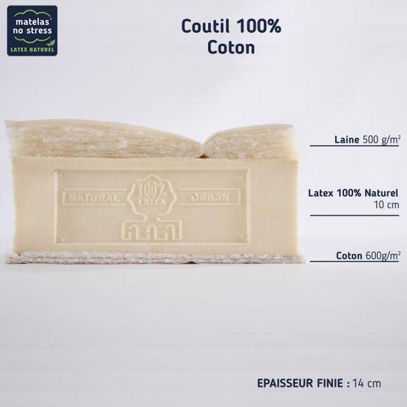 matelas 100 latex naturel 140x190