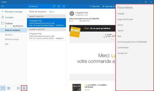 messagerie compatible windows 10