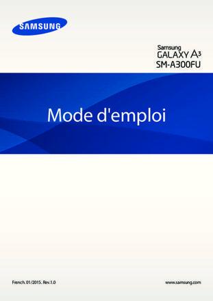 mode d emploi galaxy a3