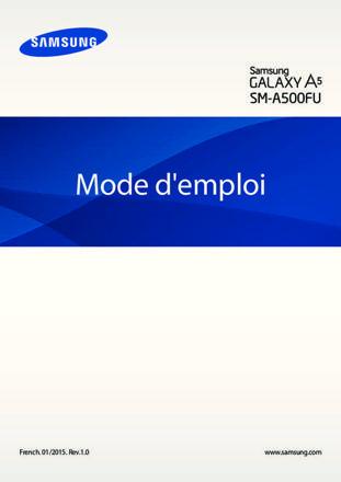 mode d'emploi samsung galaxy a5