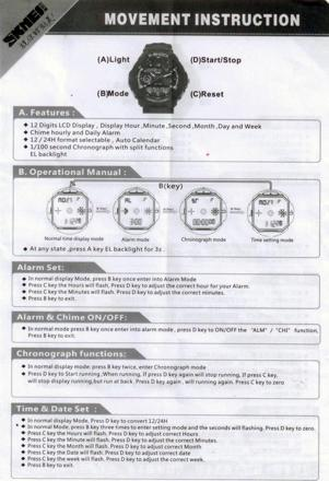 mode emploi casio g shock