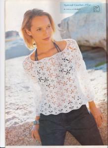 modele de pull au crochet pour femme