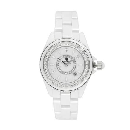montre blanche femme ceramique