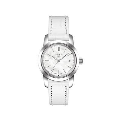 montre bracelet cuir blanc