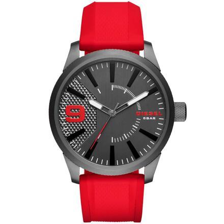 montre diesel rouge et noir