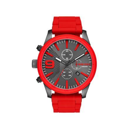 montre diesel rouge