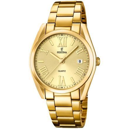 montre femme festina doré