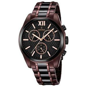 montre festina homme marron