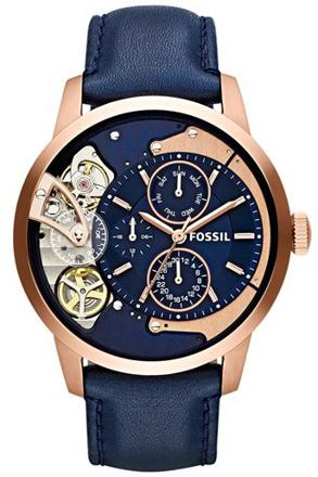 montre fossil bleu marine