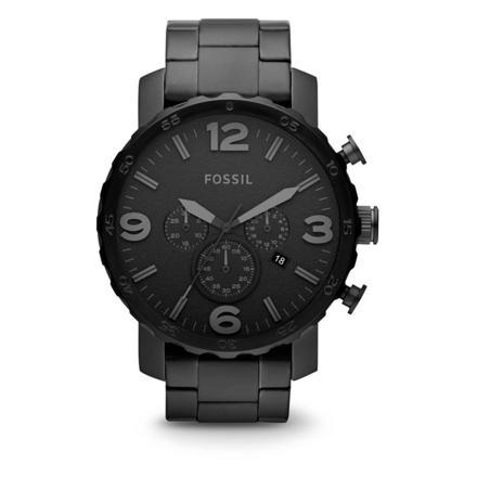 montre fossil homme chronographe acier noir