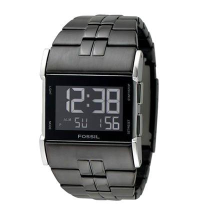 montre homme digital bracelet acier