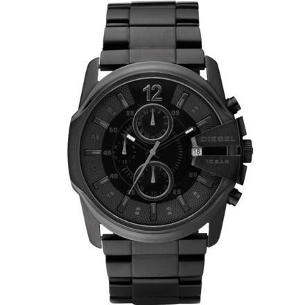 montre noir diesel