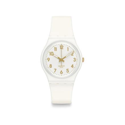 montre swatch blanche