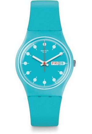 montre swatch bleu turquoise