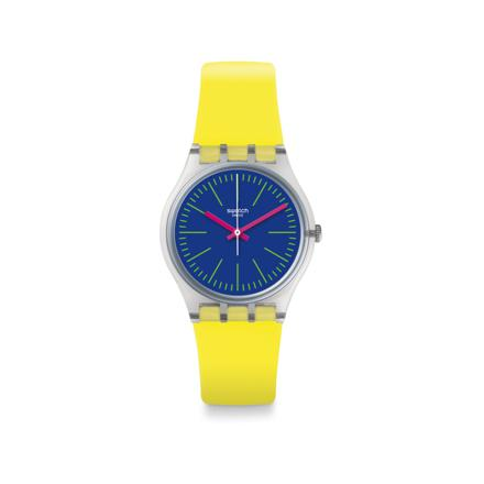 montre swatch jaune
