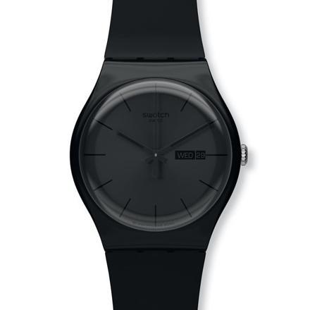 montre swatch noire femme