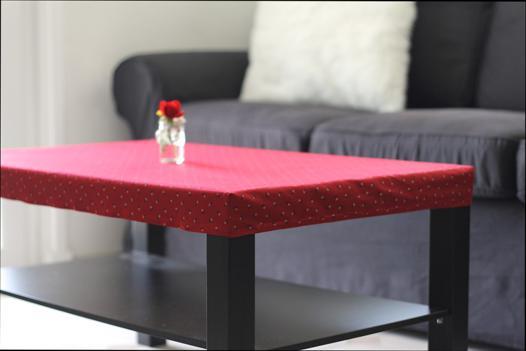 nappe pour table basse rectangulaire