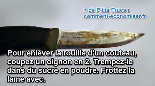 nettoyer couteau rouillé