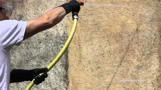 nettoyer mur exterieur