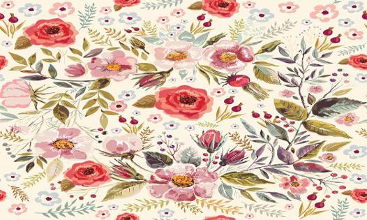 papier peint a fleur