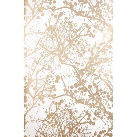 papier peint blanc et or